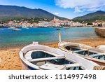 sea landscape with cadaques ... | Shutterstock . vector #1114997498