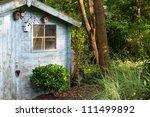 Rustic Wooden Blue Old Garden...