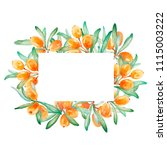 hand drawn watercolor frame of...   Shutterstock . vector #1115003222