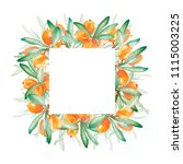 hand drawn watercolor frame of...   Shutterstock . vector #1115003225