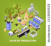 olive production process... | Shutterstock .eps vector #1115003525