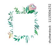 square frame of watercolor... | Shutterstock . vector #1115006252