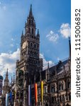 Small photo of Munich, Bavaria/Germany- JUN 16 2018 New Town Hall of Munich on Munich's Foundation Day