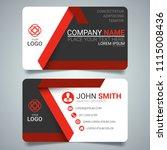 red modern creative business... | Shutterstock .eps vector #1115008436
