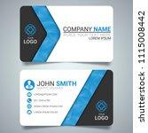 blue modern creative business... | Shutterstock .eps vector #1115008442