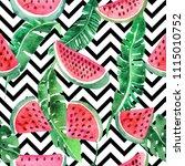 watercolor seamless pattern...   Shutterstock . vector #1115010752