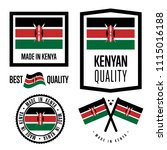 kenya quality isolated label... | Shutterstock . vector #1115016188
