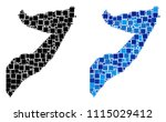 dotted somalia map versions.... | Shutterstock .eps vector #1115029412