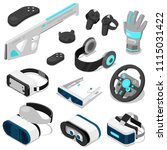virtual reality vector vc... | Shutterstock .eps vector #1115031422