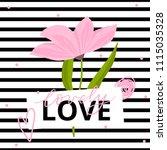 modern illustration with flower ... | Shutterstock .eps vector #1115035328