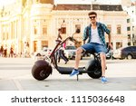 electric urban transportation.... | Shutterstock . vector #1115036648