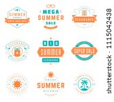 summer season sale badges and... | Shutterstock .eps vector #1115042438