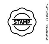 stamp icon vector | Shutterstock .eps vector #1115046242