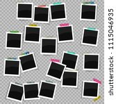 set of antique photo frames... | Shutterstock .eps vector #1115046935