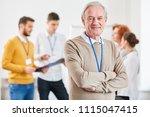 senior as self confident... | Shutterstock . vector #1115047415
