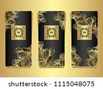 set template for package or... | Shutterstock .eps vector #1115048075