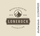 mountain logo design template... | Shutterstock .eps vector #1115049035