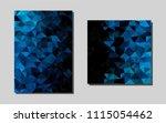light blue vector cover for... | Shutterstock .eps vector #1115054462