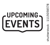 upcoming events. badge icon.... | Shutterstock .eps vector #1115058578