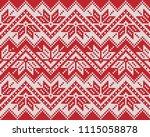 winter holiday fairisle... | Shutterstock .eps vector #1115058878