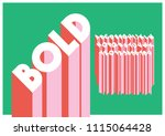 vector of modern bold font and... | Shutterstock .eps vector #1115064428