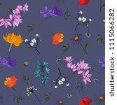 floral pattern seamless. vector ... | Shutterstock .eps vector #1115066282