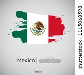 flag of mexico with brush... | Shutterstock .eps vector #1115068598