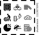 simple 9 icon set of finance... | Shutterstock .eps vector #1115073392