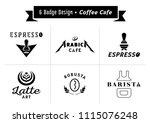 six badge design for coffee... | Shutterstock .eps vector #1115076248