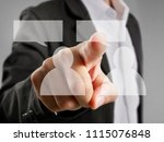 hand touch a virtual icon of... | Shutterstock . vector #1115076848