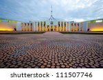 This image shows the Australian Parliament House in Canberra - stock photo