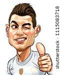 cristiano ronaldo a portuguese... | Shutterstock .eps vector #1115083718