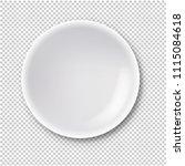 white plate isolated... | Shutterstock .eps vector #1115084618