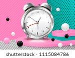 vector 3d realistic corner wall ... | Shutterstock .eps vector #1115084786