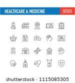 healthcare medicine line icon | Shutterstock .eps vector #1115085305