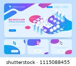 datacenter isometric vector... | Shutterstock .eps vector #1115088455