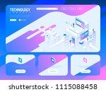 technology creative website... | Shutterstock .eps vector #1115088458