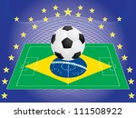 football over pitch with... | Shutterstock . vector #111508922