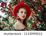 outdoor portrait of young... | Shutterstock . vector #1115090012