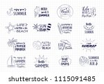 hand drawn summer icons   big... | Shutterstock .eps vector #1115091485