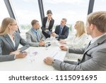 business people team at meeting ... | Shutterstock . vector #1115091695