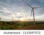wind turbine generator is a... | Shutterstock . vector #1115097572
