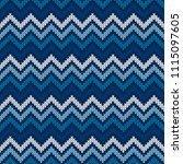 chevron abstract knitted... | Shutterstock .eps vector #1115097605