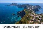aerial view of ponza  island of ... | Shutterstock . vector #1115099105