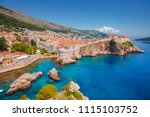 aerial view at famous european... | Shutterstock . vector #1115103752