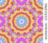 vector ornamental seamless... | Shutterstock .eps vector #1115113982