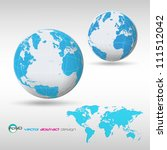 eps10 vector detailed globe... | Shutterstock .eps vector #111512042