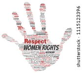 vector conceptual women rights  ... | Shutterstock .eps vector #1115123396