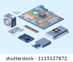 isometric flat 3d isolated... | Shutterstock .eps vector #1115127872