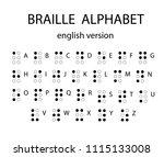 braille alphabet letters.... | Shutterstock .eps vector #1115133008